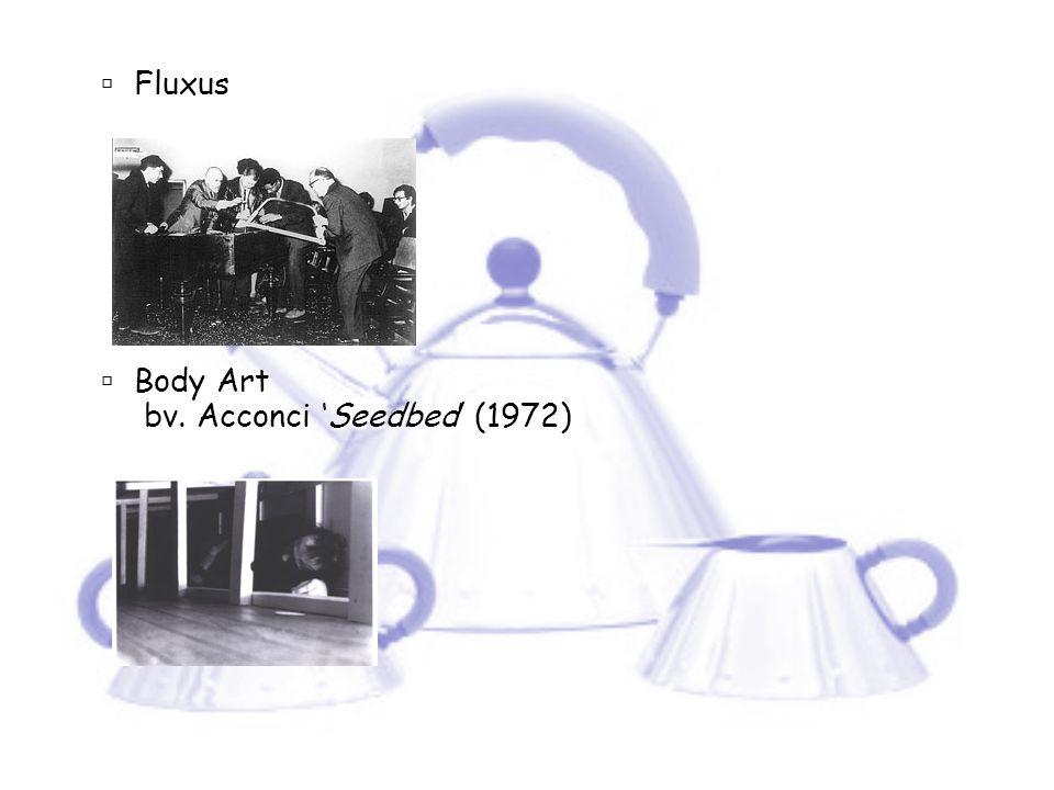  Fluxus  Body Art bv. Acconci 'Seedbed' (1972)