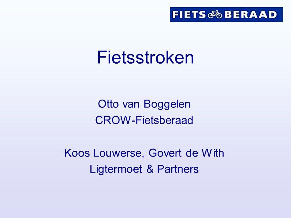 Fietsstroken Otto van Boggelen CROW-Fietsberaad Koos Louwerse, Govert de With Ligtermoet & Partners