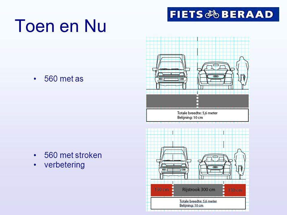 Discussie Belijning –Belijning toepassen aan de rechterkant van de fietsstrook.