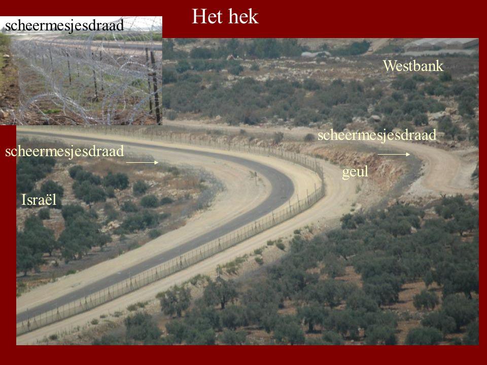 geul scheermesjesdraad Westbank Het hek Israël scheermesjesdraad