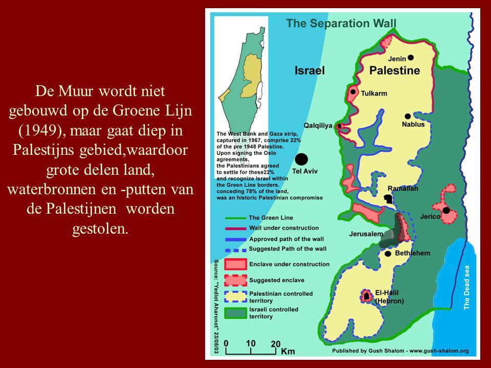 Israëls Apartheidsmuur: 4 fases NOORDEN A and B: Elkana - Salim - Tayasir A: 128 Km, B: 57 Km CENTRUM C : Elkana - Jeruzalem ZUIDEN D : Betlehem - Hebron OOSTEN E : Jordaanvallei (Allon Road)