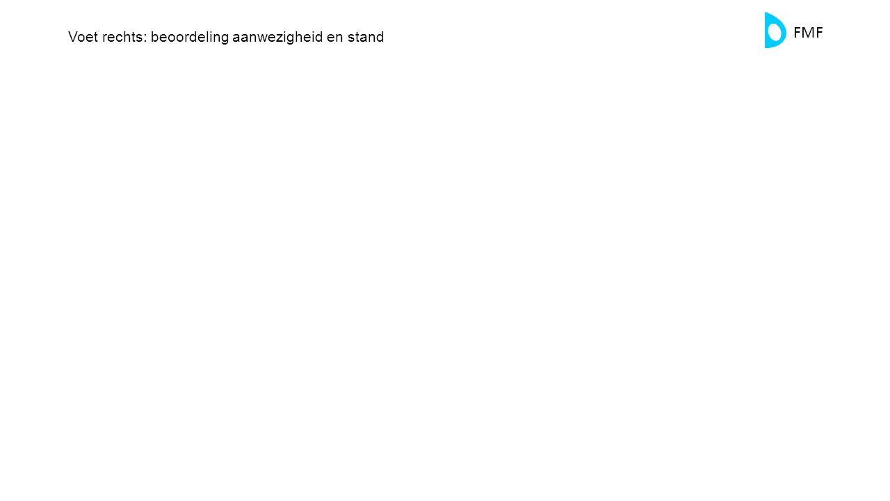 FMF Voet rechts: beoordeling aanwezigheid en stand