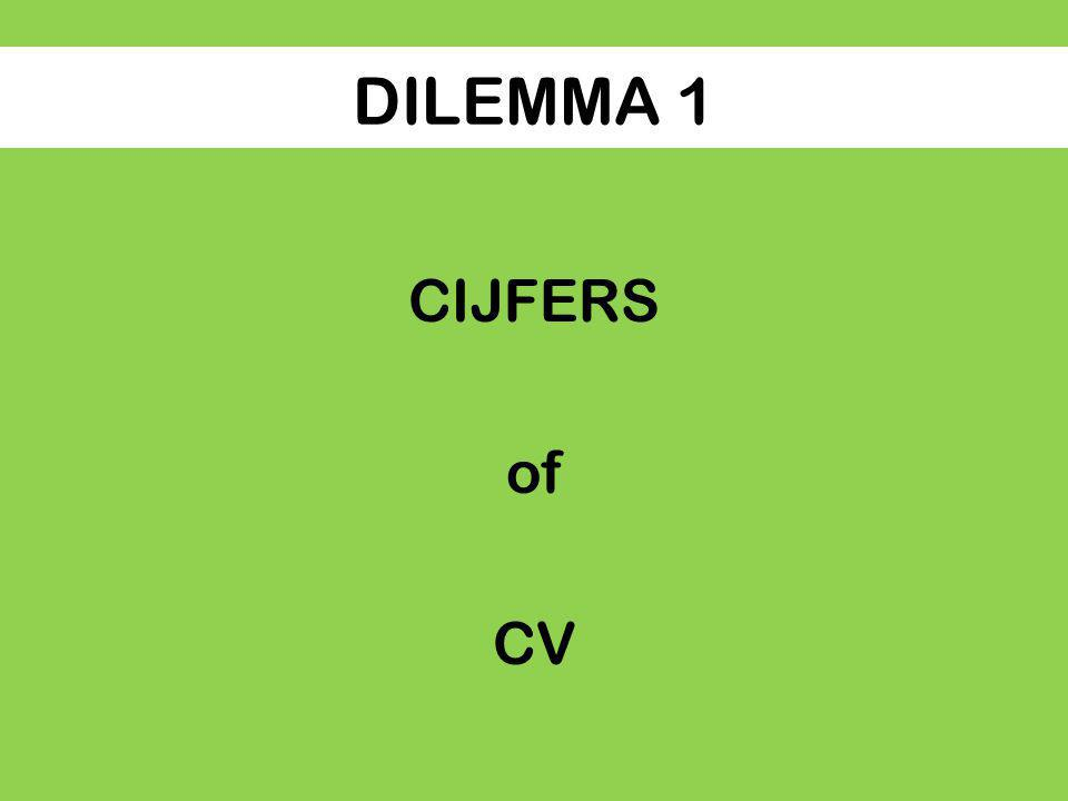 DILEMMA 1 CIJFERS of CV