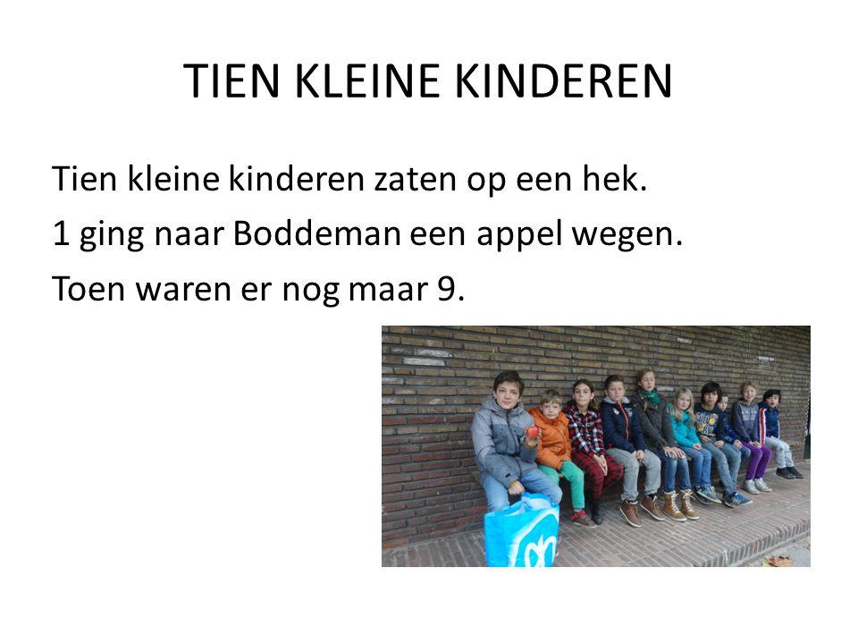 TIEN KLEINE KINDEREN Tien kleine kinderen zaten op een hek.