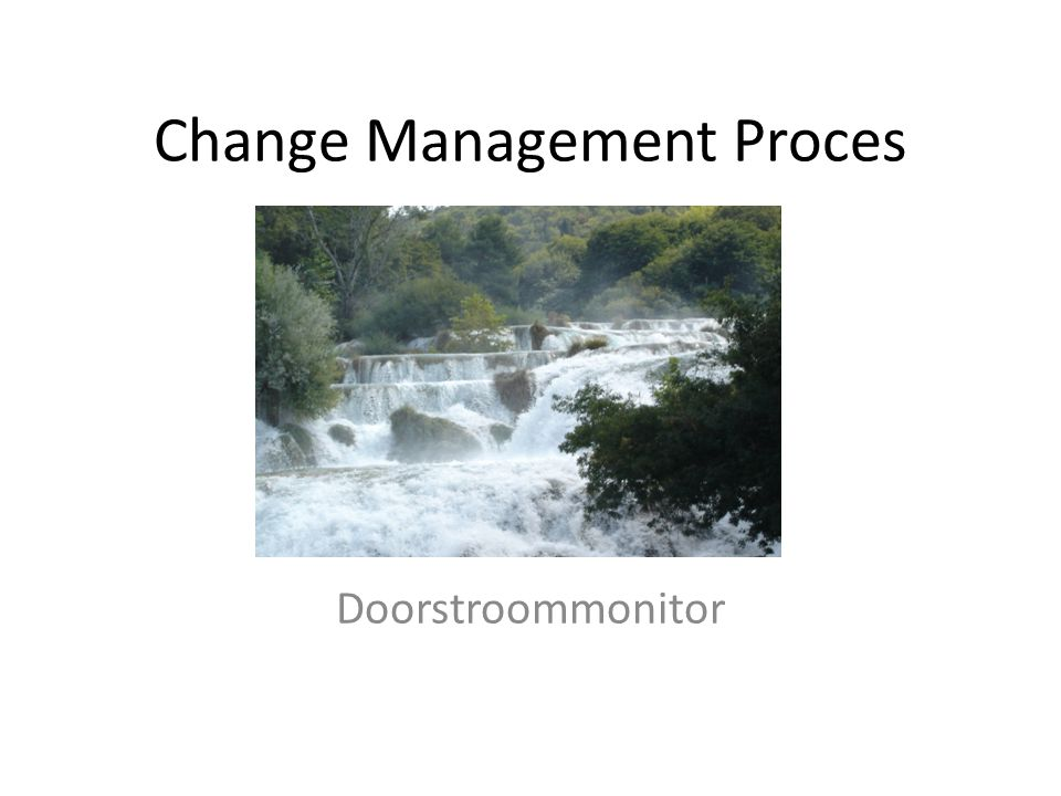 Change Management Proces Doorstroommonitor