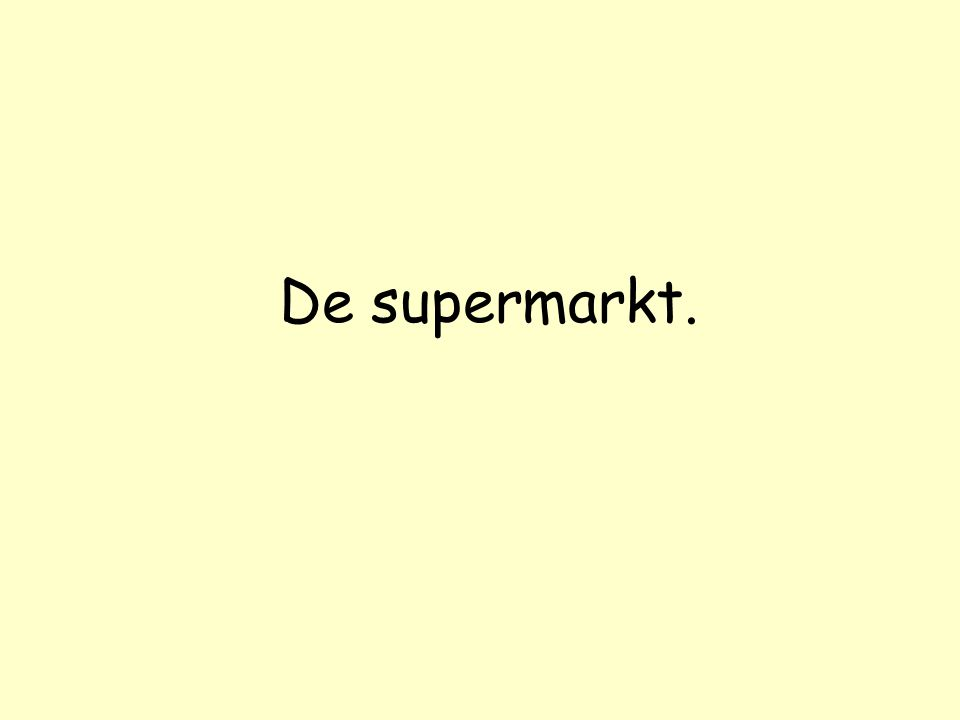 Er komt een man een supermarkt binnen, loopt naar de afdeling dierenvoeding, pakt twee blikken hondenvoer en loopt vervolgens naar de kassa.