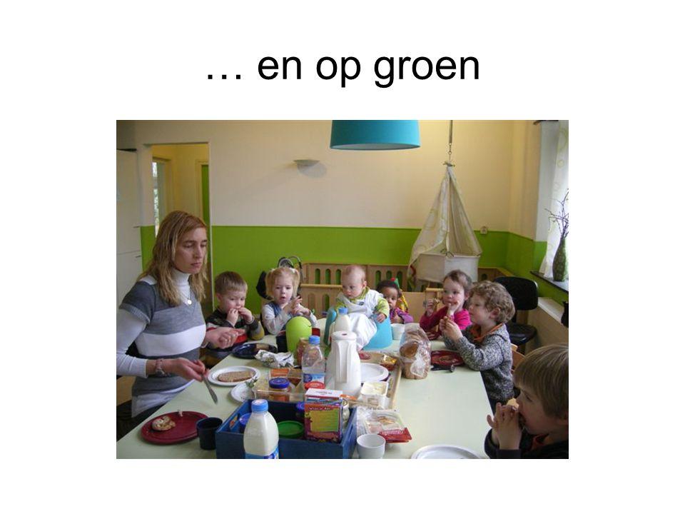… en op groen