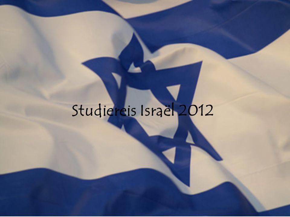 Studiereis Israël 2012