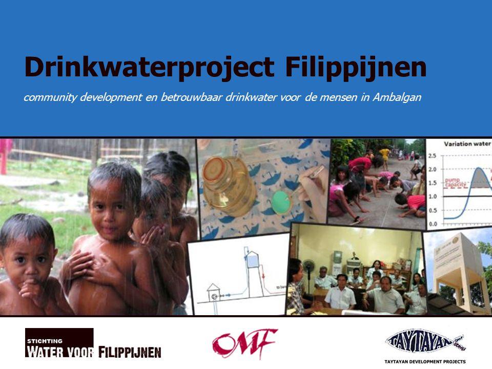 1 Drinkwaterproject Filippijnen community development en betrouwbaar drinkwater voor de mensen in Ambalgan