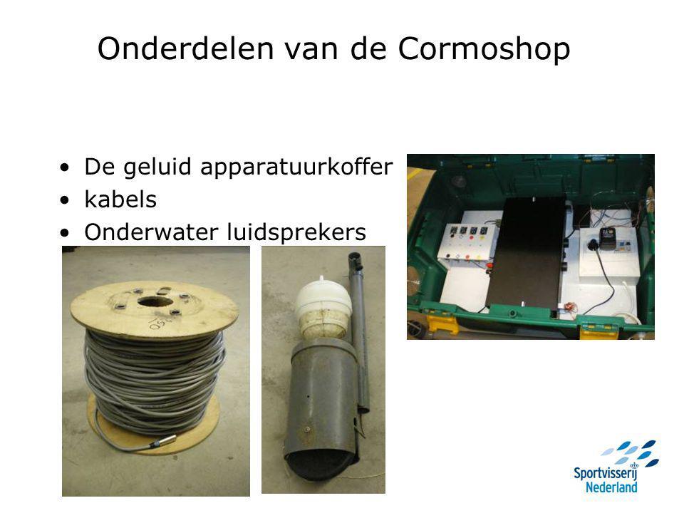Onderdelen van de Cormoshop De geluid apparatuurkoffer kabels Onderwater luidsprekers