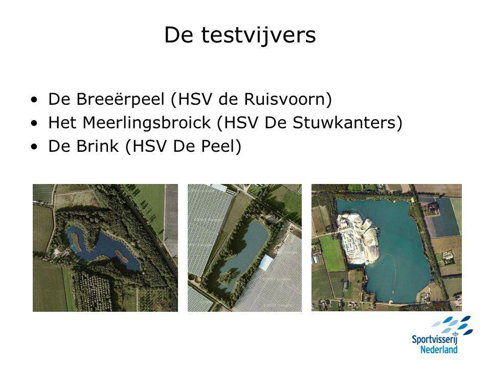 De testvijvers De Breeërpeel (HSV de Ruisvoorn) Het Meerlingsbroick (HSV De Stuwkanters) De Brink (HSV De Peel)