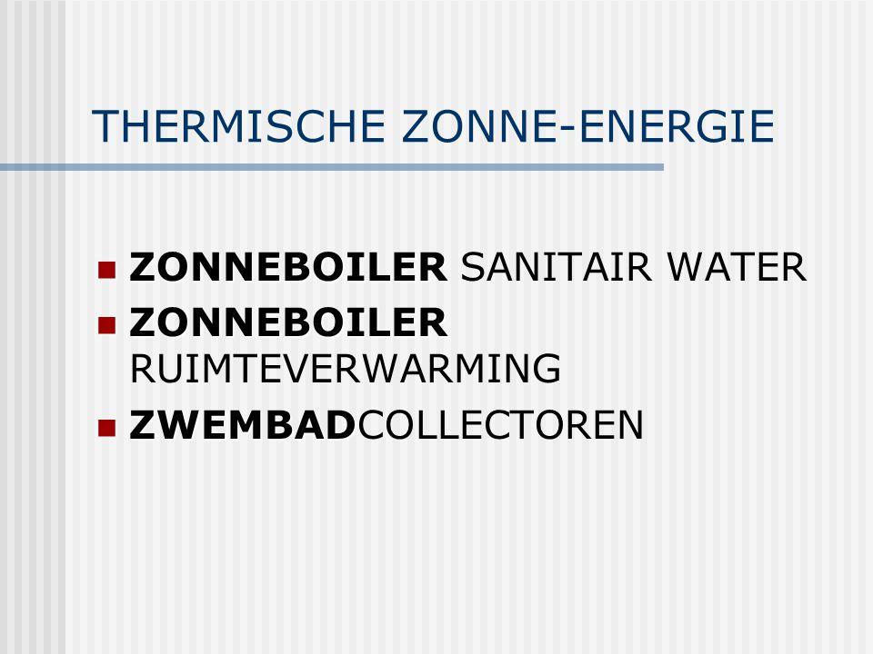 THERMISCHE ZONNE-ENERGIE ZONNEBOILER ZONNEBOILER SANITAIR WATER ZONNEBOILER ZONNEBOILER RUIMTEVERWARMING ZWEMBAD ZWEMBADCOLLECTOREN