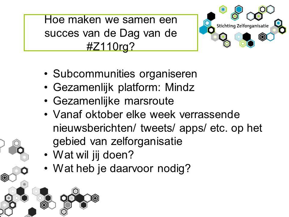 Hoe maken we samen een succes van de Dag van de #Z110rg.