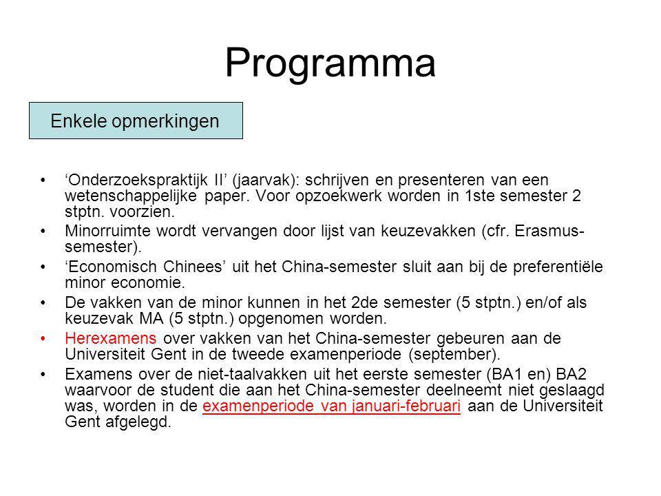 Programma 'Onderzoekspraktijk II' (jaarvak): schrijven en presenteren van een wetenschappelijke paper. Voor opzoekwerk worden in 1ste semester 2 stptn