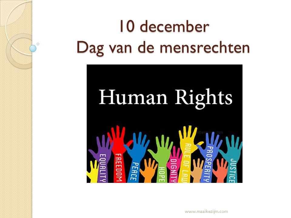 10 december Dag van de mensrechten www.maaikezijm.com