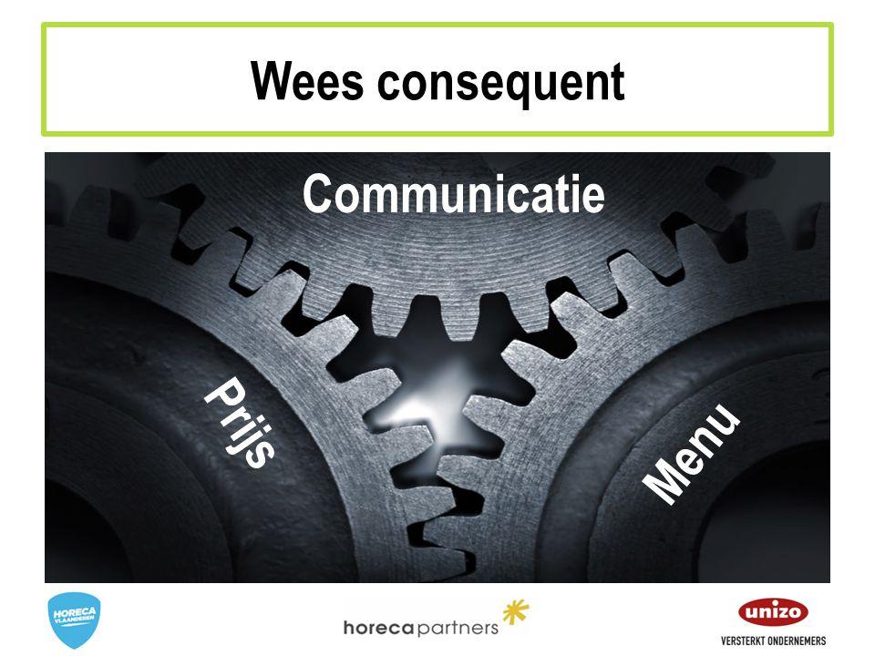 Prijs Menu Communicatie Wees consequent