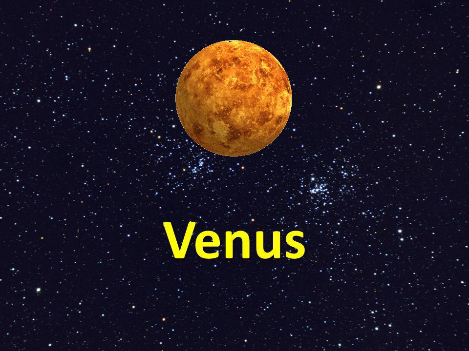 De tweede planeet vanaf de zon gezien Venus is de helderste planeet.