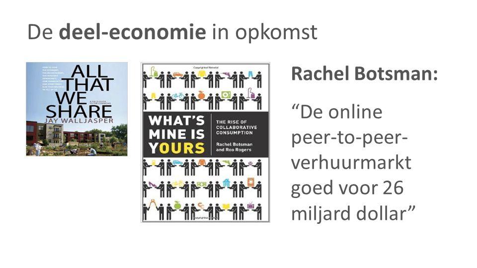 """Rachel Botsman: """"De online peer-to-peer- verhuurmarkt goed voor 26 miljard dollar"""""""