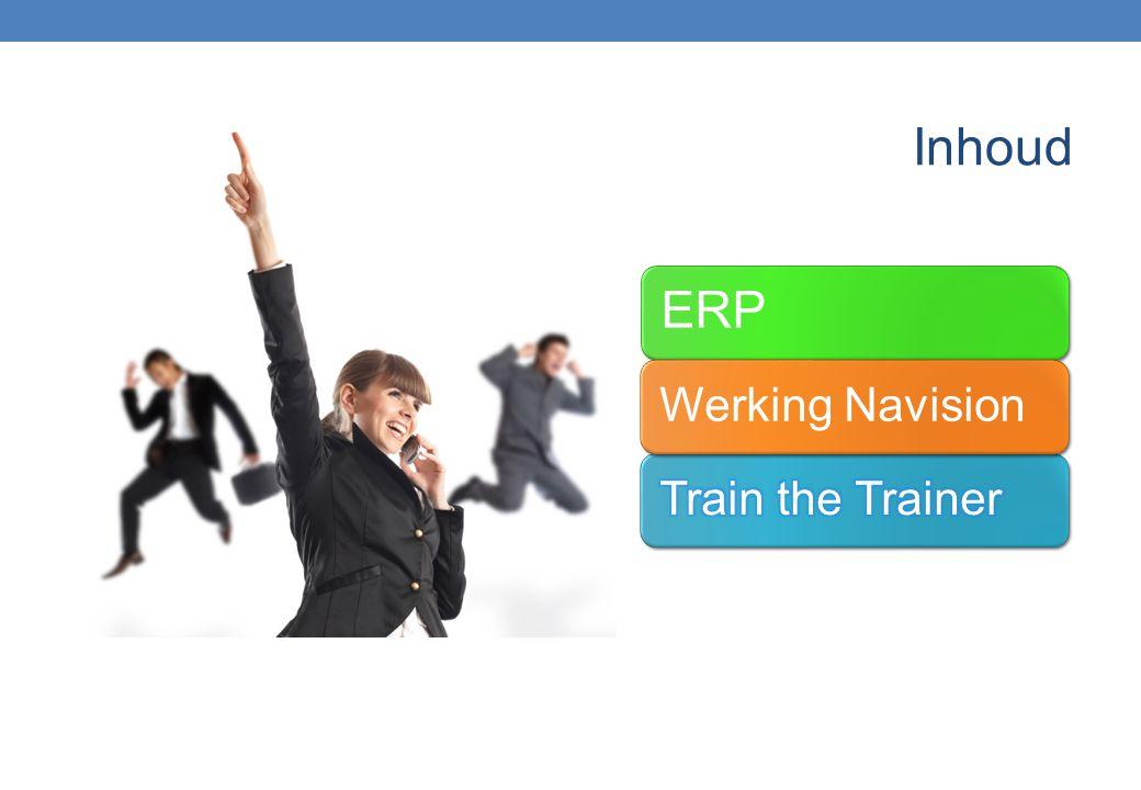 Inhoud ERP Werking Navision