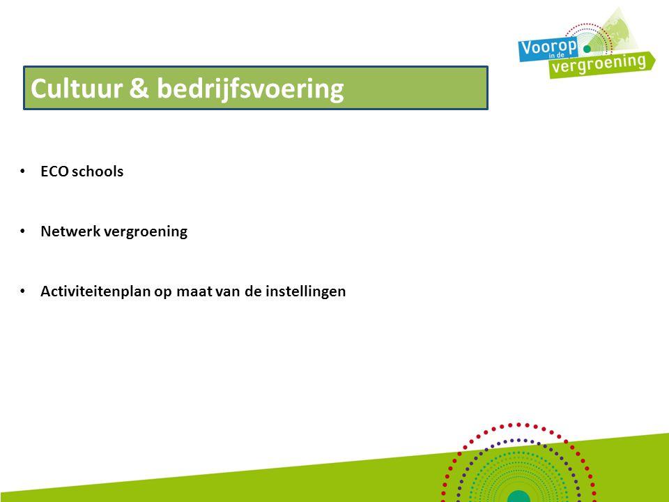 Externe profilering De inzet vanuit het project is gericht op het actief zichtbaar maken van de ontwikkelingen binnen het groene onderwijs op het gebied van vergroening.