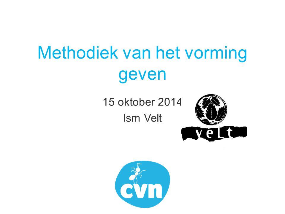 Methodiek van het vorming geven 15 oktober 2014 Ism Velt