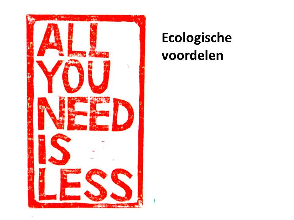 Ecologische voordelen