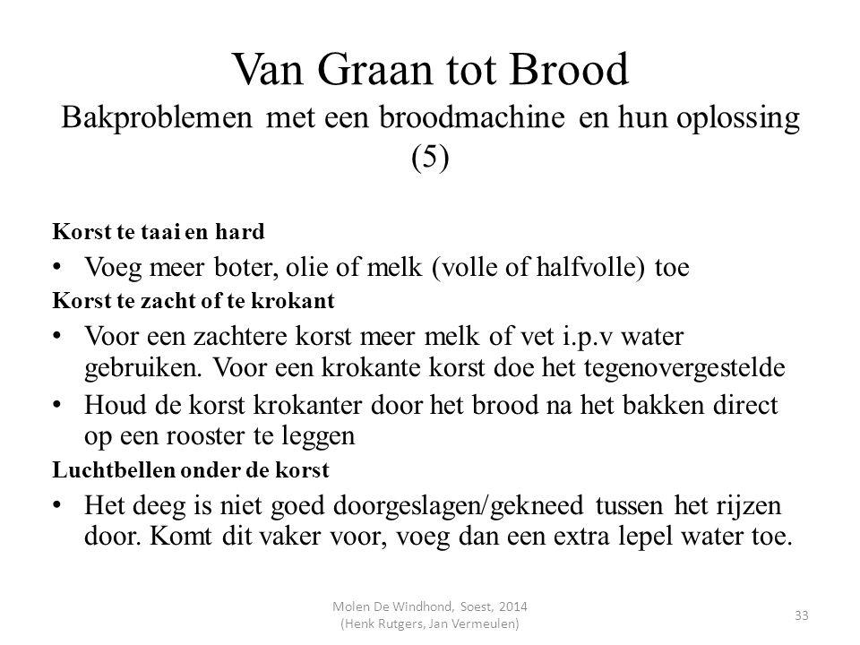 Van Graan tot Brood Bakproblemen met een broodmachine en hun oplossing (5) Korst te taai en hard Voeg meer boter, olie of melk (volle of halfvolle) to