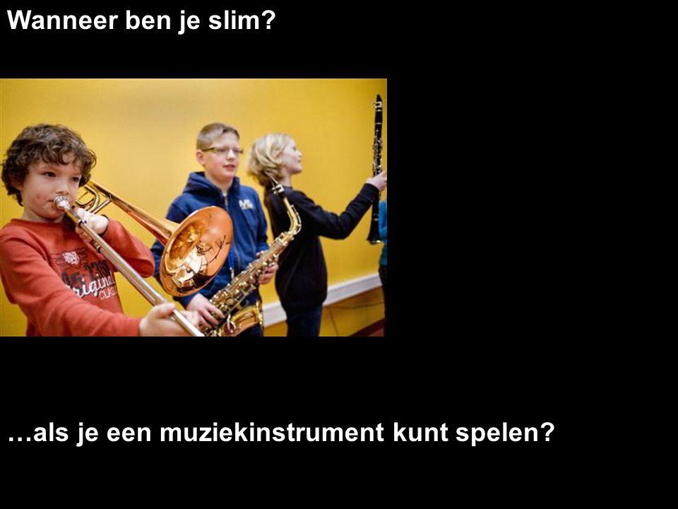 Wanneer ben je slim? …als je een muziekinstrument kunt spelen?