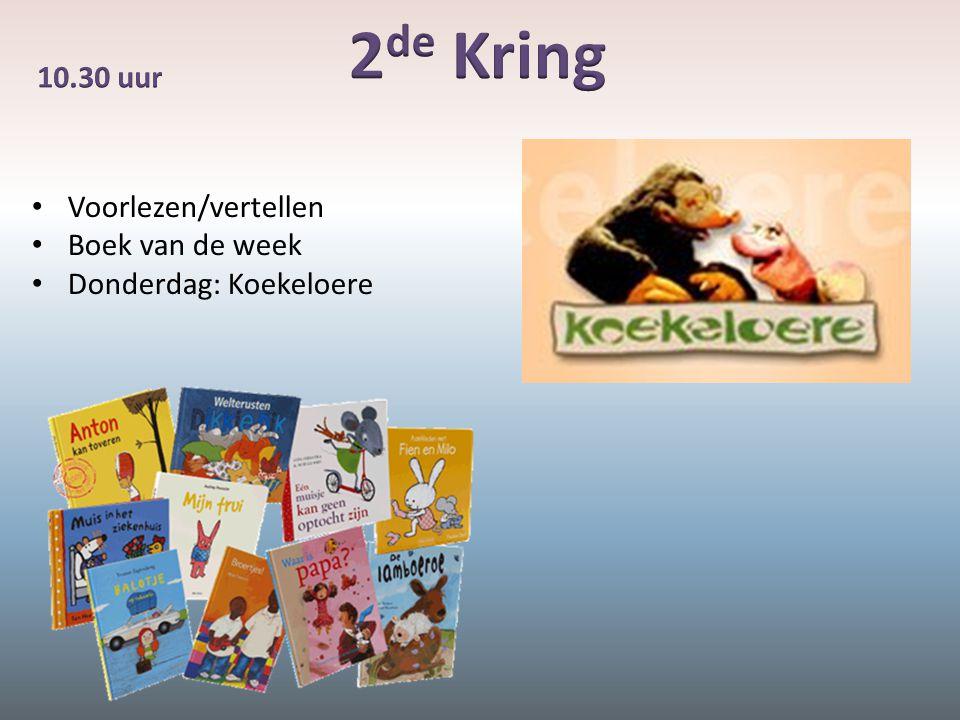 Voorlezen/vertellen Boek van de week Donderdag: Koekeloere