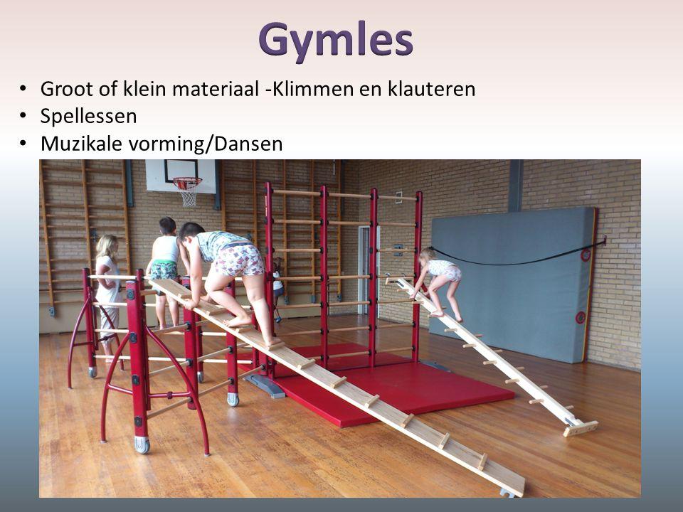 Groot of klein materiaal -Klimmen en klauteren Spellessen Muzikale vorming/Dansen