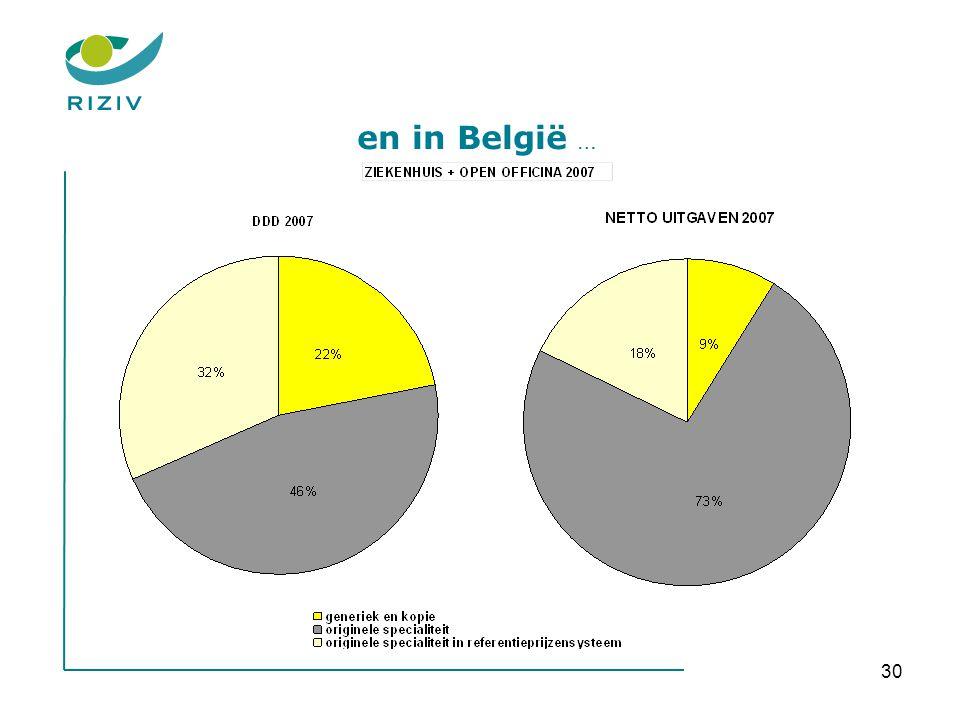 30 en in België …