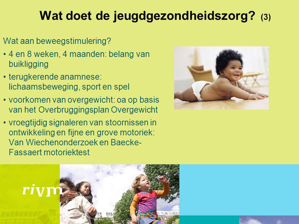 Wat doet de jeugdgezondheidszorg.(3) Wat aan beweegstimulering.