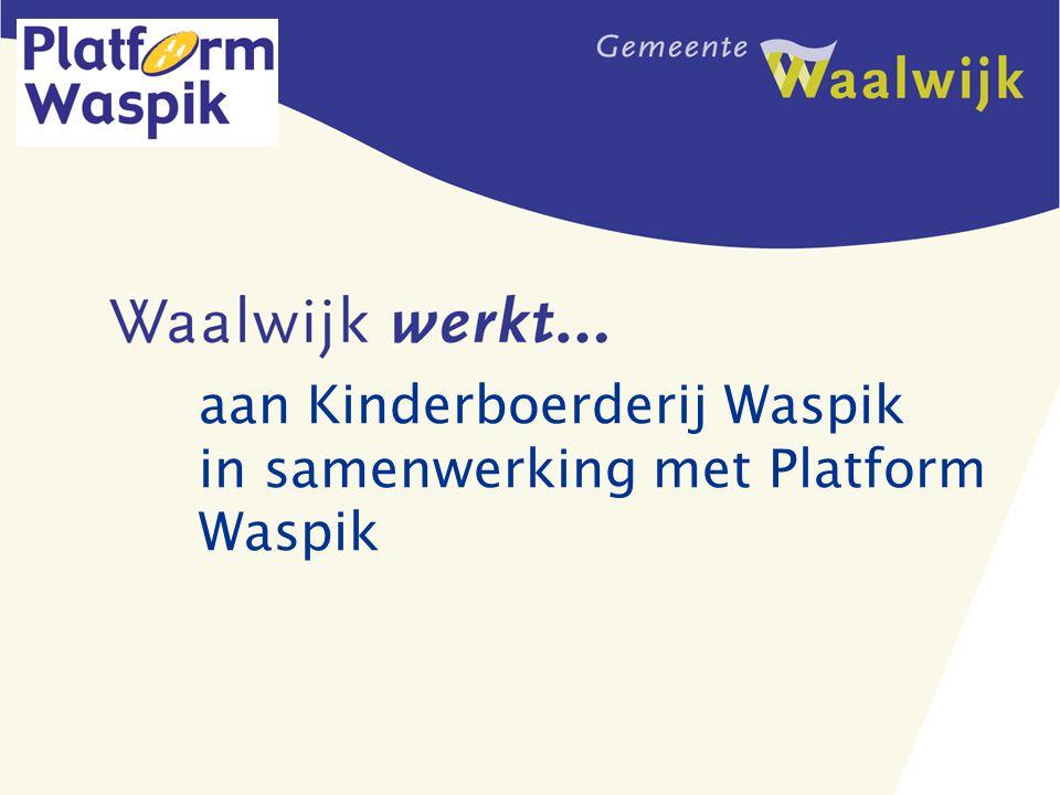 aan Kinderboerderij Waspik in samenwerking met Platform Waspik