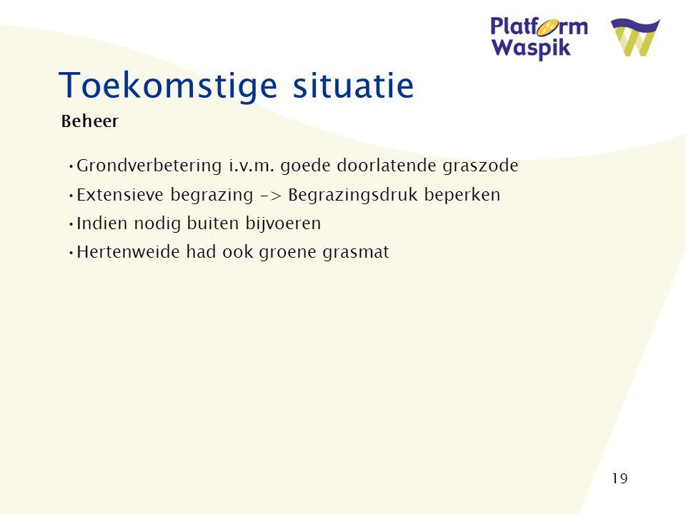 19 Toekomstige situatie Beheer Grondverbetering i.v.m.