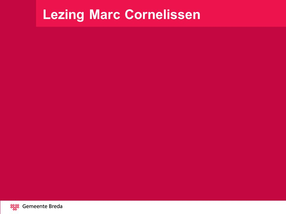 Lezing Marc Cornelissen