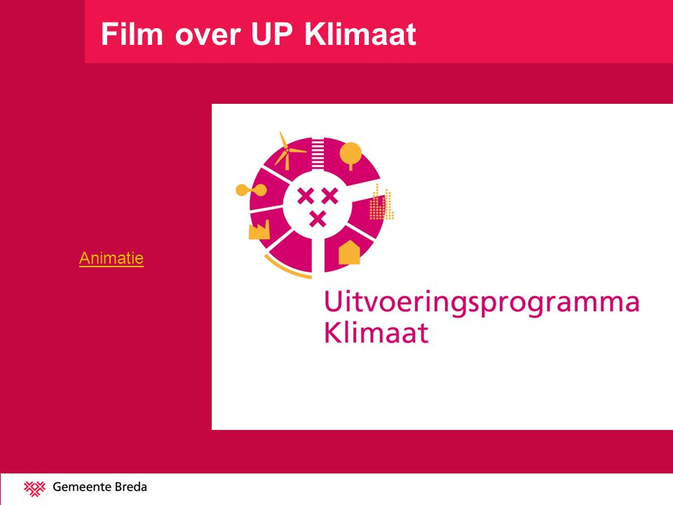 Film over UP Klimaat Animatie