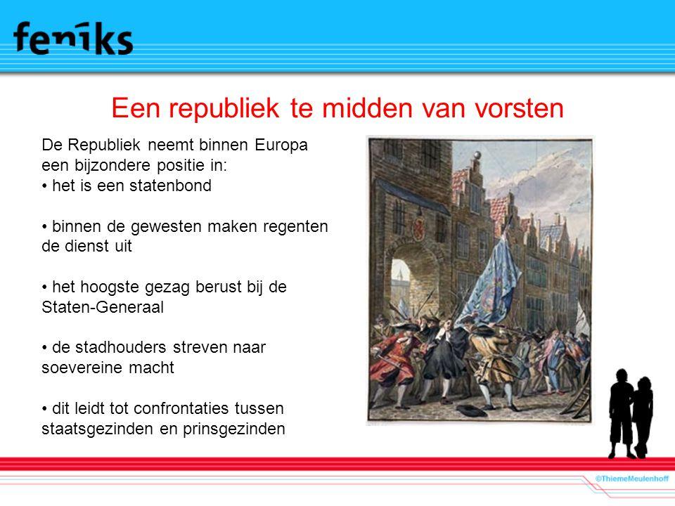 Een republiek te midden van vorsten De Republiek neemt binnen Europa een bijzondere positie in: het is een statenbond binnen de gewesten maken regente
