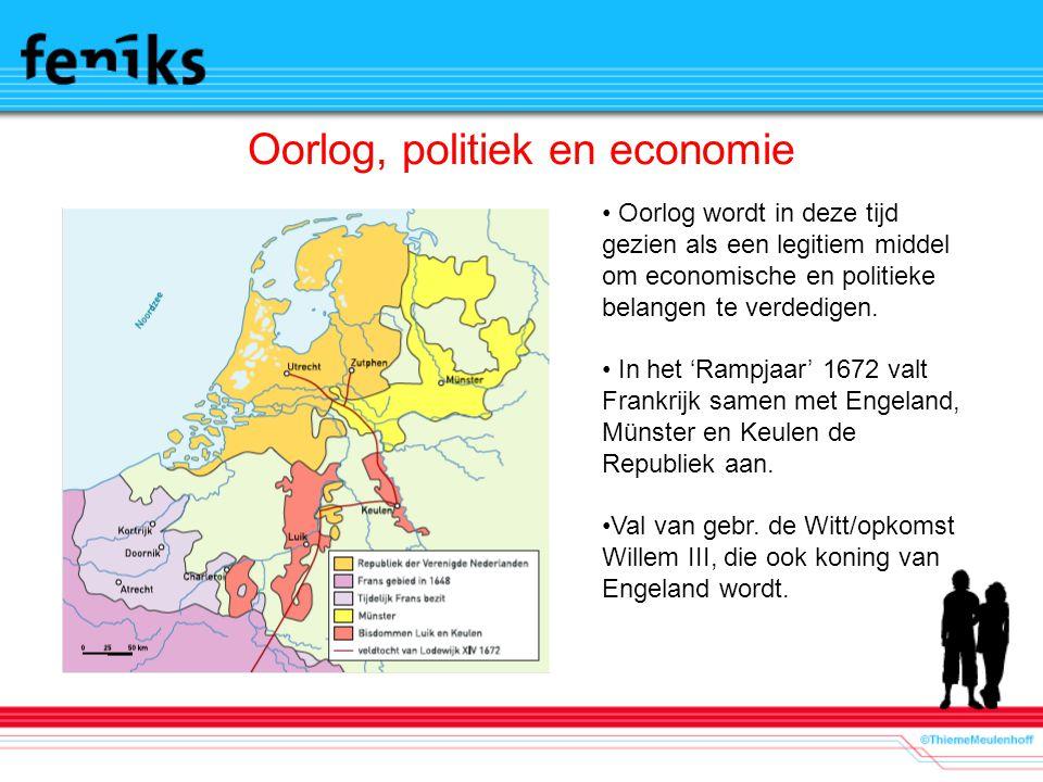 Oorlog, politiek en economie Oorlog wordt in deze tijd gezien als een legitiem middel om economische en politieke belangen te verdedigen.