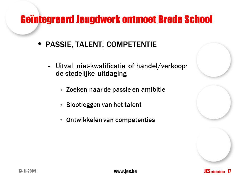 Geïntegreerd Jeugdwerk ontmoet Brede School PASSIE, TALENT, COMPETENTIE -Uitval, niet-kwalificatie of handel/verkoop: de stedelijke uitdaging »Zoeken
