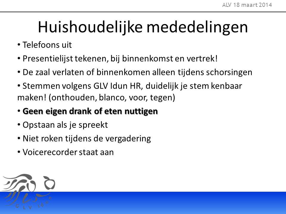 16. Chargeren / dechargeren commissieleden ALV 18 maart 2014