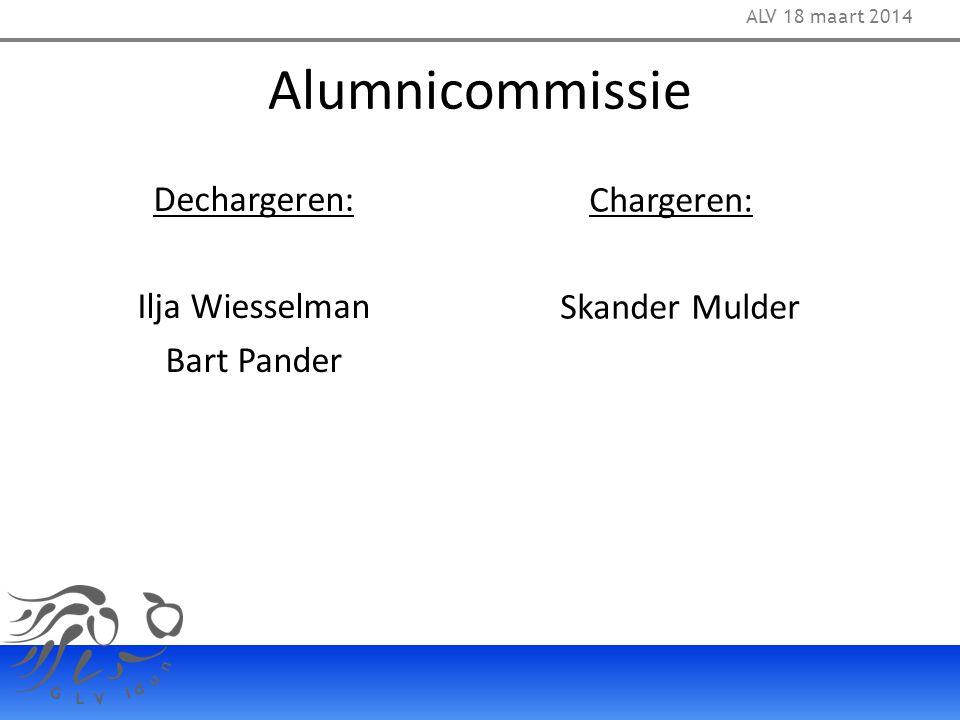 Alumnicommissie ALV 18 maart 2014 Chargeren: Skander Mulder Dechargeren: Ilja Wiesselman Bart Pander