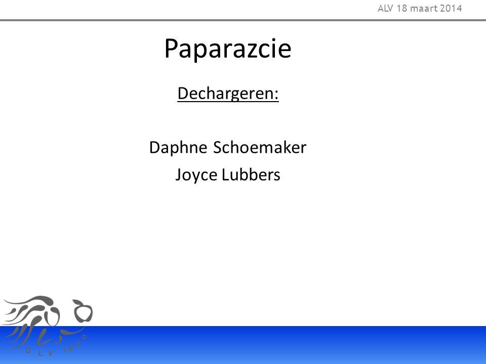 Paparazcie Dechargeren: Daphne Schoemaker Joyce Lubbers ALV 18 maart 2014