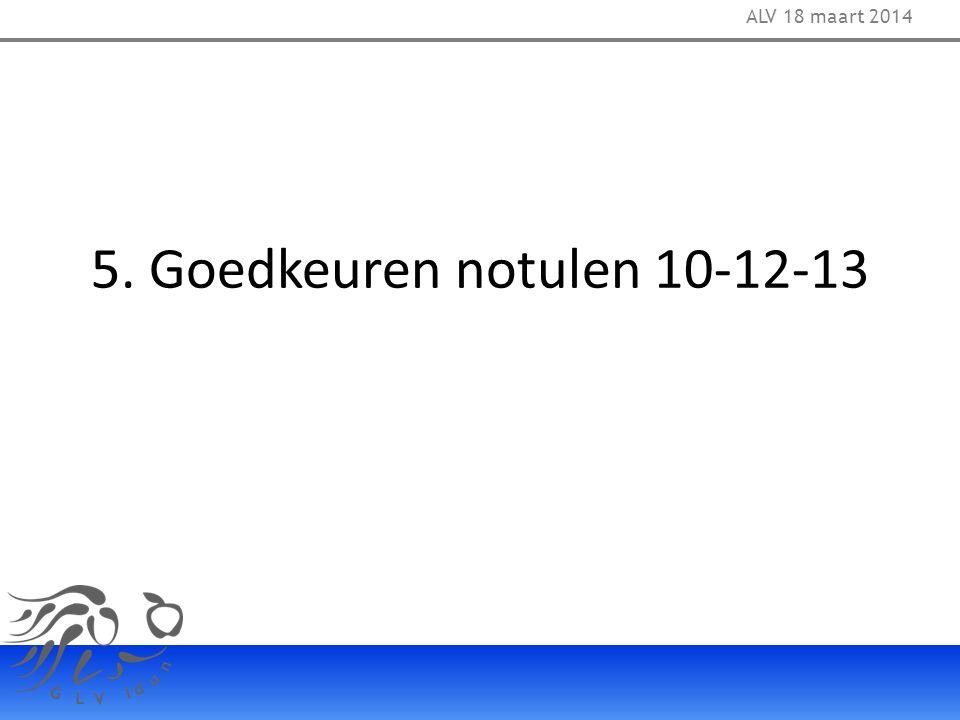 EJC Dechargeren: Patrick Werndlij ALV 18 maart 2014