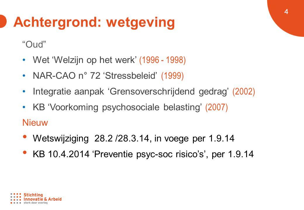 5 Achtergrond: Wat zijn psychosociale risico's.