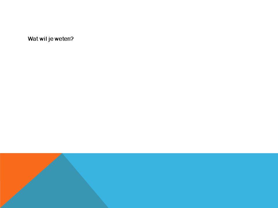 Wat wil je weten?