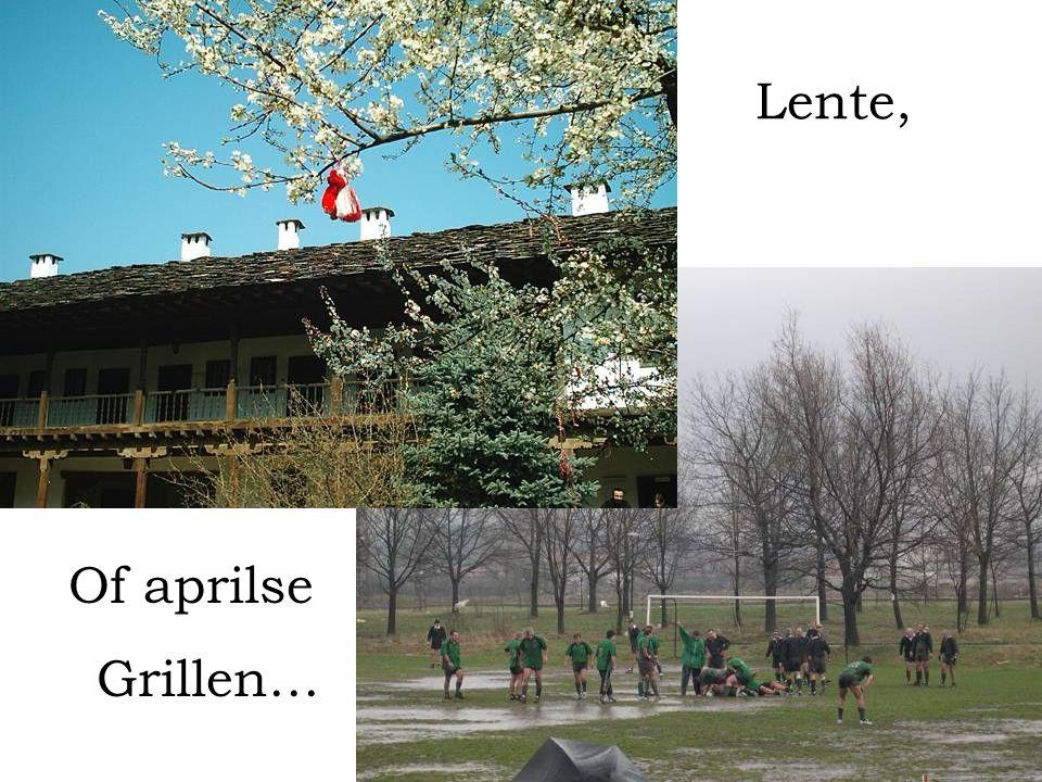 Of aprilse Grillen… Lente,