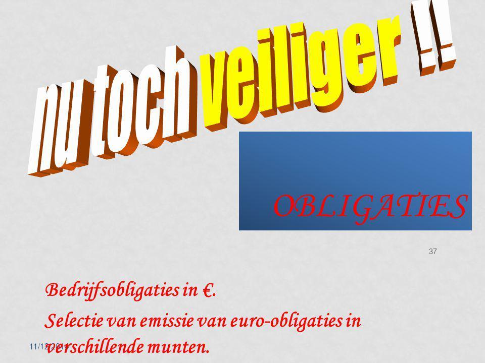 11/12/2014 37 OBLIGATIES Bedrijfsobligaties in €.