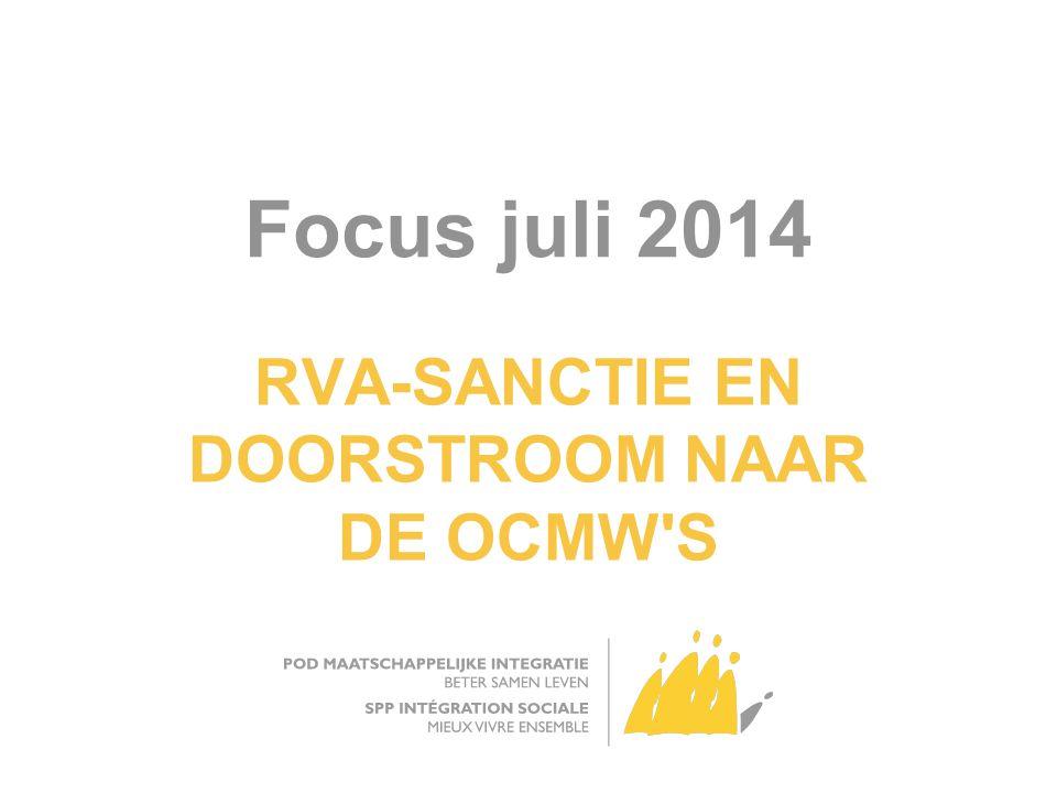 Focus juli 2014 RVA-SANCTIE EN DOORSTROOM NAAR DE OCMW S