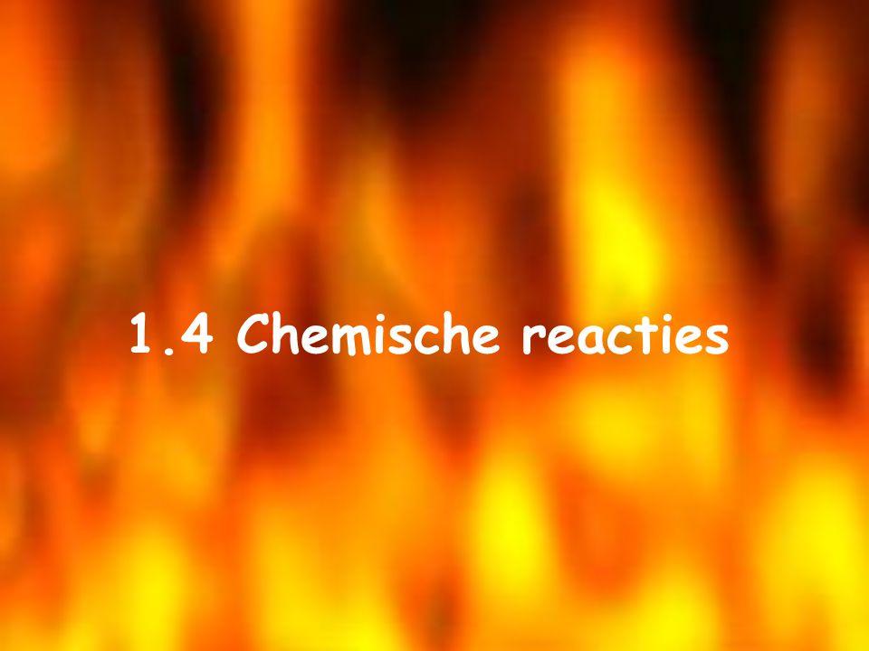 1.4 Chemische reacties