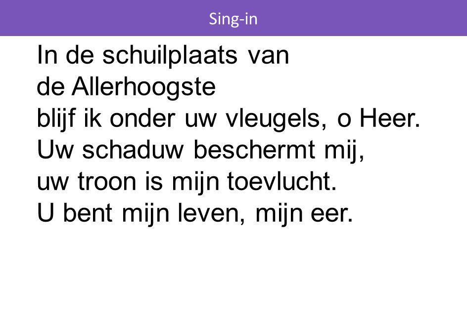 Sing-in Opwekking 672 Heerser over alle dingen, God van de oneindigheid, van uw liefde wil ik zingen, buigen voor uw majesteit.